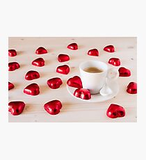 Chocolate hearts for a romantic day Photographic Print