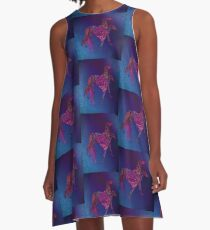 Greyhounds in Living Color A-Line Dress