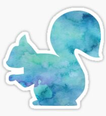 Blue Squirrel Sticker