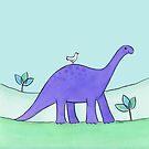 Purple Diplodocus Dinosaur by zoel