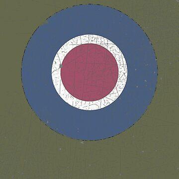 Vintage Look WW2 British Royal Air Force Roundel by VintageSpirit