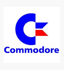 Commodore Classic Logo Clothing & Merchandise Photographic Print