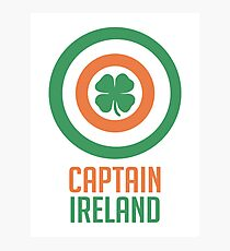 Captain Ireland – America, Shield Photographic Print