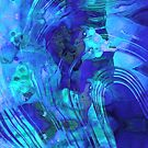 Blue Abstract Art - Reflections - Sharon Cummings by Sharon Cummings