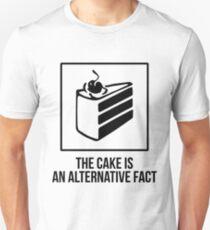 The Cake is an Alternative Fact - Black Unisex T-Shirt