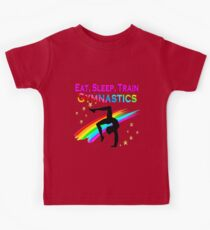 EAT SLEEP TRAIN GYMNASTICS Kids Tee