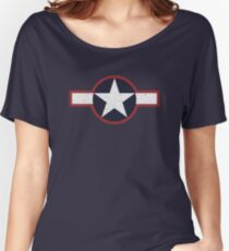 Vintage Look US Forces Roundel 1943 Women's Relaxed Fit T-Shirt