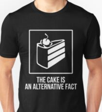 The Cake is an Alternative Fact - White Unisex T-Shirt