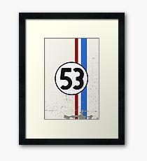 Vintage Look 53 Car Race Number Graphic Framed Print