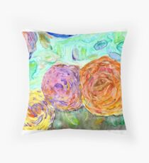 Yupo Flower Throw Pillow