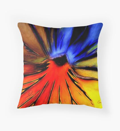Far Out Pansy Throw Pillow