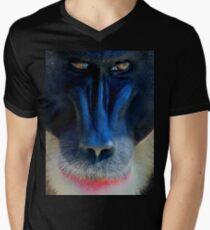 monkey looking right Men's V-Neck T-Shirt