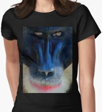 monkey looking right Women's Fitted T-Shirt