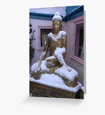 Buddha's winter prayer Greeting Card