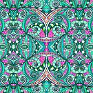 Drawing Floral Zentangle G207 by MEDUSA GraphicART