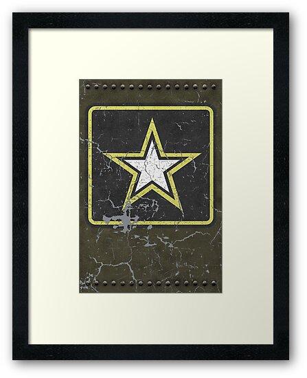 Vintage Look US Army Star Logo  by VintageSpirit