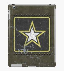 Vintage Look US Army Star Logo  iPad Case/Skin