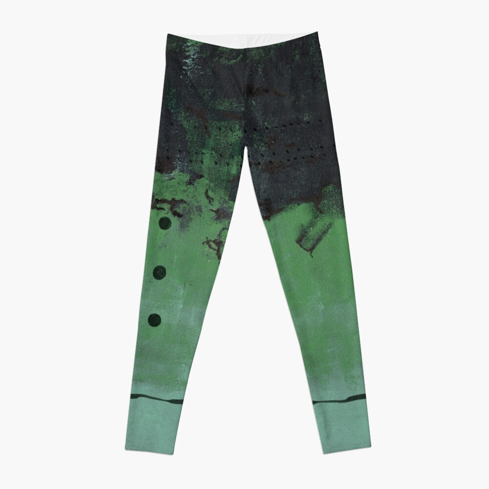 Abstract green nature print Leggings