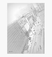 Cityscape 1 Drawing Photographic Print