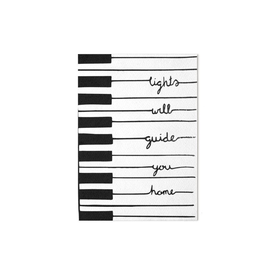 Piano keys-Lights will guide you home\