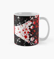 Red Black Abstract Design Mug