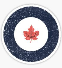 Vintage Look WW2 Royal Canadian Air Force Roundel Sticker