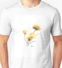 Yellow flowers decorations for sale, flower art print T-Shirt