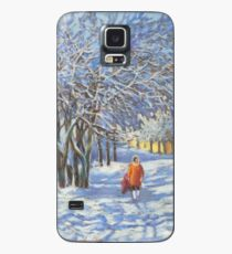 A walk by the winter park Case/Skin for Samsung Galaxy
