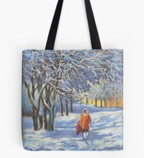 A walk by the winter park Tote Bag