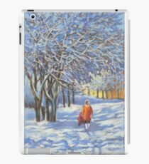 A walk by the winter park iPad Case/Skin