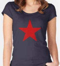 Vintage Look Russian Red Star Women's Fitted Scoop T-Shirt