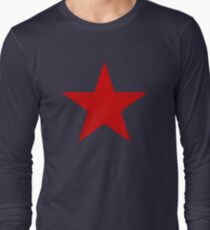 Vintage Look Russian Red Star Long Sleeve T-Shirt