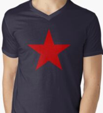 Vintage Look Russian Red Star Men's V-Neck T-Shirt