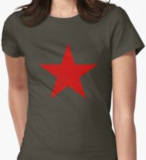 Vintage Look Russian Red Star Women's Fitted T-Shirt