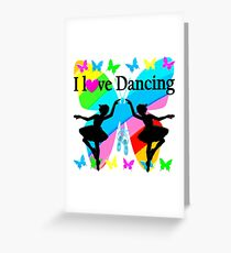 PRETTY I LOVE DANCING BUTTERFLY DESIGN Greeting Card