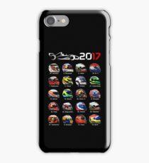 Formula 1 2017 drivers helmets all iPhone Case/Skin