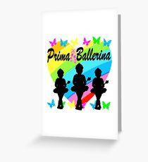PRETTY PRIMA BALLERINA RAINBOW HEART DESIGN Greeting Card