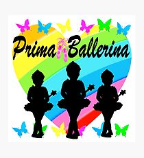 PRETTY PRIMA BALLERINA RAINBOW HEART DESIGN Photographic Print
