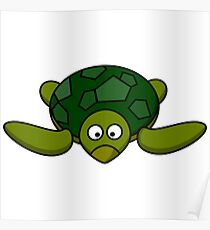Cartoon Turtle Funny Turtle Shirt Poster
