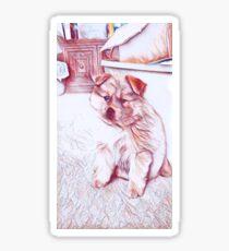 Puppy Sketch Sticker