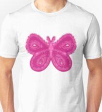 Pink butterfly Unisex T-Shirt