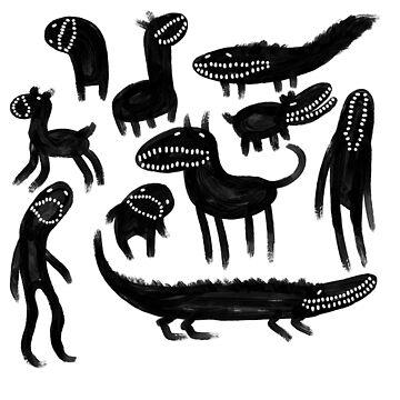Tooothy monsters by Naivuren
