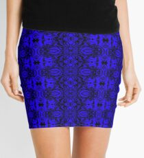 Blue Zentapestry Mini Skirt