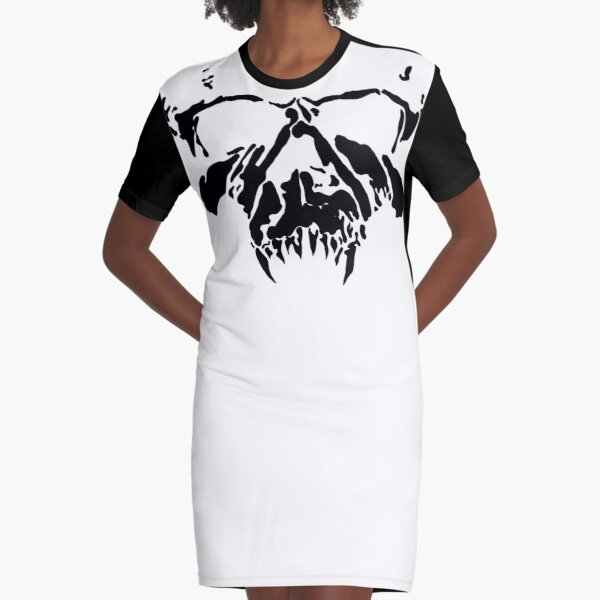Horned Skull Graphic T-Shirt Dress
