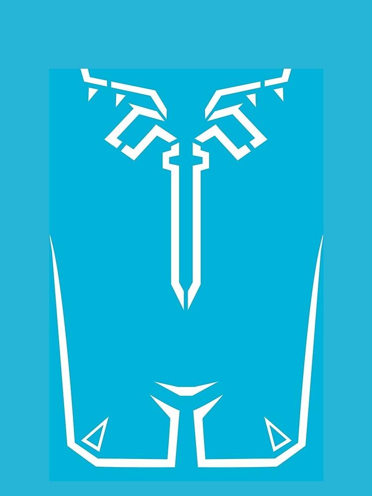 Camisa azul con aliento del aliado de Link Túnica azul de sheikah