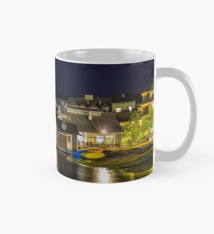 Blue Mountain Village at night Mug