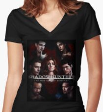 Shadowhunters #1 Women's Fitted V-Neck T-Shirt