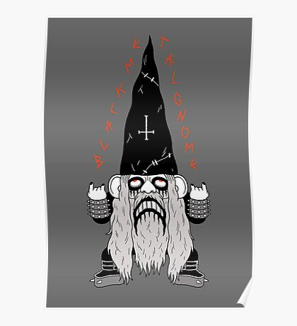 Black Metal Gnomo Poster