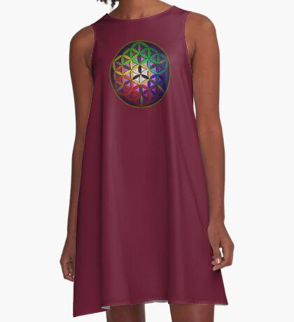 flower of life (spectral) A-Line Dress