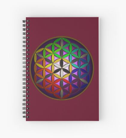 flower of life (spectral) Spiral Notebook